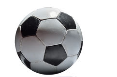 fotboll för burning exponeringsglas för aquaboll Arkivbilder