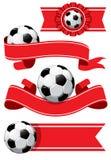 fotboll för designelementset vektor illustrationer