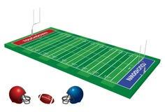 fotboll för fält 3d Arkivfoto