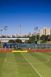 fotboll för fält för mittcirkel royaltyfri bild
