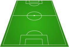 fotboll för fältfotbollpitch Arkivfoton