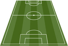fotboll för fältfotbollpitch Fotografering för Bildbyråer