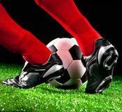 fotboll för fotboll för bollfält Royaltyfri Fotografi