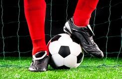 fotboll för fotboll för bollfält Arkivbild