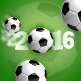 Fotboll 2016 för fotbollboll Royaltyfri Foto