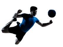 fotboll för fotbollmanspelare Arkivfoto