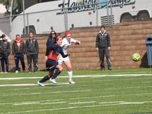 Fotboll för högskolaNCAA DIV III Women's Fotografering för Bildbyråer
