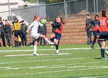 Fotboll för högskolaNCAA DIV III Women's Royaltyfria Foton