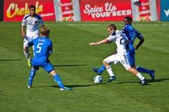 fotboll för la för jordskalvgalaxlek vs Royaltyfri Foto