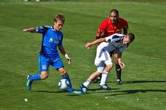 fotboll för la för jordskalvgalaxlek vs Royaltyfria Bilder