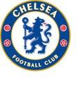 Fotboll för lag för Chelsea fclogo Arkivfoton