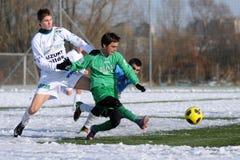 fotboll för modiga illes för akademia kaposvar royaltyfria foton