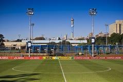 fotboll för pitch för mittcirkel fotografering för bildbyråer