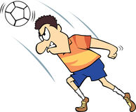 fotboll för spelare för uttrycksfotboll tokig Arkivfoton