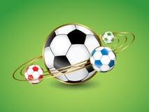 Fotboll - fotbollbollplanet Fotografering för Bildbyråer