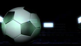 Fotboll - fotbollfält Fotografering för Bildbyråer