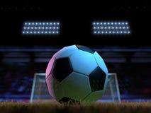 Fotboll - fotbollfält - 11 meter Royaltyfria Bilder