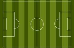 Fotboll-/fotbollfältvektor Fotografering för Bildbyråer