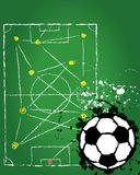 Fotboll-/fotbollillustration Royaltyfria Bilder