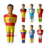 Fotboll/fotbollsspelare av landslag stock illustrationer