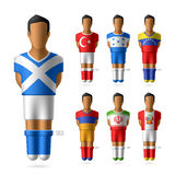 Fotboll/fotbollsspelare i nationsflaggaunifor Royaltyfri Bild