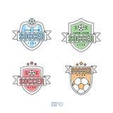 Fotboll fotbollvektor Logo Set Royaltyfria Foton