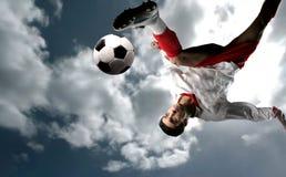 fotboll för 10 spelare Arkivbild