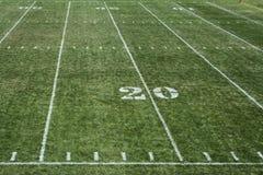 fotboll för 20 fält Arkivbilder