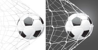 fotboll för bollmålställning Royaltyfri Fotografi