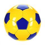 fotboll för burning exponeringsglas för aquaboll Fotografering för Bildbyråer