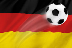 fotboll germany Royaltyfri Fotografi