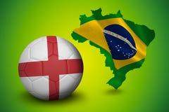 Fotboll i England färger Arkivbild