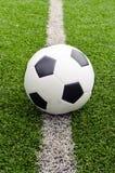 Fotboll i fältstadion på gräset Royaltyfri Bild