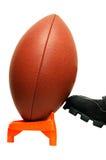 fotboll isolerad kickoff Arkivbilder