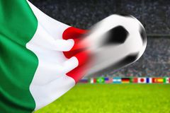 fotboll italy Royaltyfri Bild