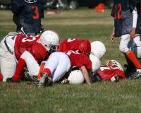 fotboll kissar wee Arkivfoto