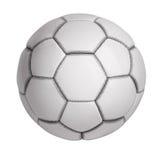 Fotboll klumpa ihop sig gjord ââof konstgjort läder Arkivfoto