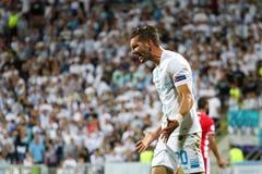 Fotboll - liga för UEFA-mästare Royaltyfri Fotografi