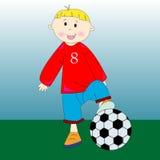 fotboll little spelare Royaltyfri Bild