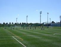fotboll lurar spelrum fotografering för bildbyråer