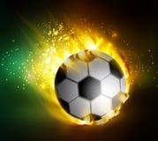 Fotboll med flammor Arkivfoton