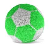 Fotboll med gräsyttersida - tolkning 3D Fotografering för Bildbyråer