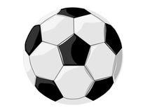 Fotboll med skuggor. Royaltyfria Bilder