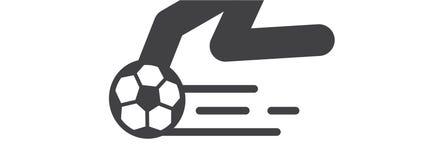 Fotboll- och fotbollleklek illustrerar royaltyfri illustrationer