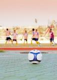 Fotboll på arenaen Arkivfoto