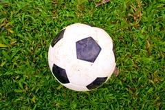 Fotboll på gräs. Royaltyfria Bilder
