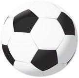 Fotboll på vitbakgrund Royaltyfri Illustrationer