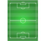 Fotboll sätter in horisontal Royaltyfri Foto