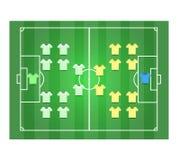 Fotboll sätter in och Footballer2 Royaltyfria Bilder