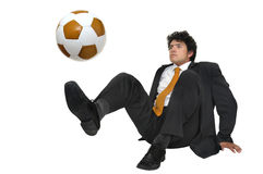 fotboll som jag älskar Royaltyfri Foto